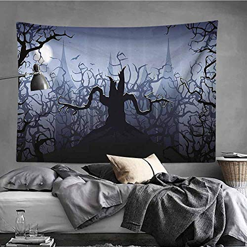 AndyTours Large Wall Tapestry,Halloween Decorations,Occlusion Cloth Painting,40