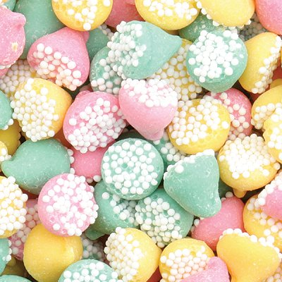 Smooth N' Melty Assorted Petite Nonpareils Mints: 20LB Case by Guittard Chocolate