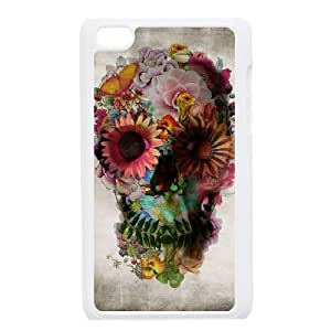 iPod Touch 4 phone case White Sugar Skull Cover KKUP1760795