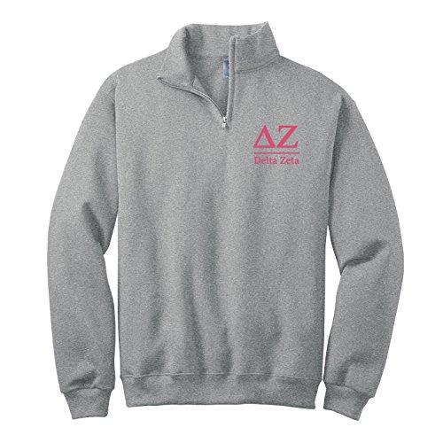 Delta Zeta Quarter Zip Pullover Sweatshirt