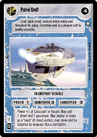 STAR WARS CCG LS SPECIAL EDITION PATROL CRAFT 315C at