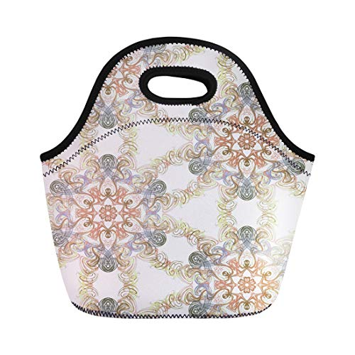- Semtomn Lunch Bags Geometrical Abstract Batek Batik Digital Drawing Elegance Graphic Infinity Neoprene Lunch Bag Lunchbox Tote Bag Portable Picnic Bag Cooler Bag