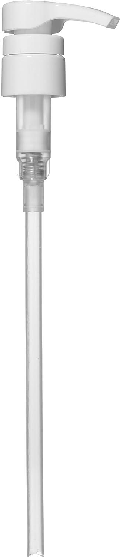Universal Shampoo/Conditioner Dispenser Pump for 1 Liter (33.8 Ounce) Bottles - White (Pack of 4) Bar5F