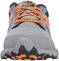 New Balance Boys\' KT690V2 Running Shoes, Grey/Black, 4 M US Big Kid