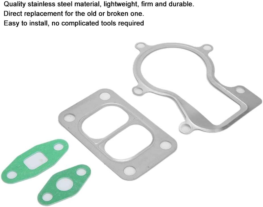 Stainless Steel Turbo Gasket Kit fits for Holset HX35 HX35W Oil Inlet Outlet Turbo Flange Adapter
