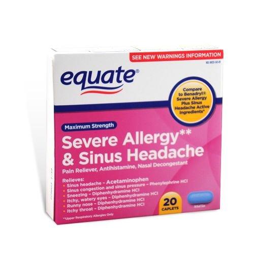 Equate d'allergies graves et maux
