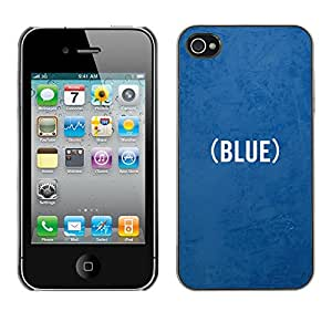 MOBMART Carcasa Funda Case Cover Armor Shell PARA Apple iPhone 4 / 4S - The Color Blue