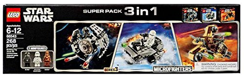 Lego Star Wars Microfighters Super Pack 3 in 1 Series 3 (66543) (Lego Star Wars Wookiee Ship)