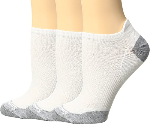Smartwool Women's PhD Run Ultra Light Micro 3-Pair Pack White/Light Gray Medium