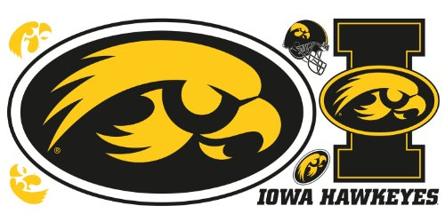 RoomMates RMK1995GM University of Iowa Giant Peel and Stick Wall Decals