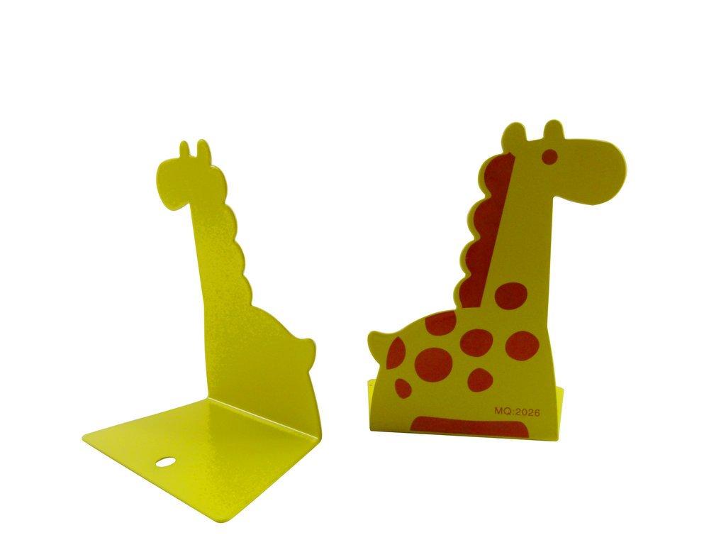 Forma Jirafa linda Mini Bookends (altura 11, 5 cm) para la tabla de artículos de papelería PartyErasers