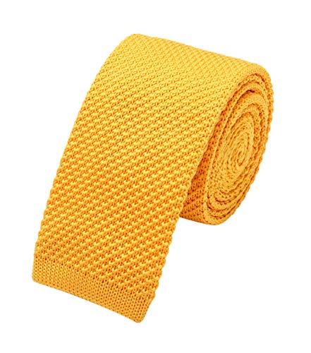 Groom Crochet - Men's Stripe Navy Blue Eco-friendly Woven Silk Tie Formal Crochet Knitted Necktie for Grooms