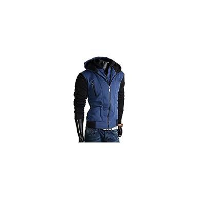 27963798a629b Mela Proibita Sexy giacchetto uomo felpato felpa giacca manica lunga  invernale slim fit casual - Nero
