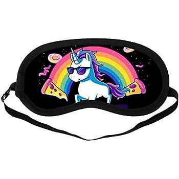 22387788cf8 Amazon.com  Maxdot 2 Pieces Unicorn Sleeping Mask Cute Unicorn Horn ...