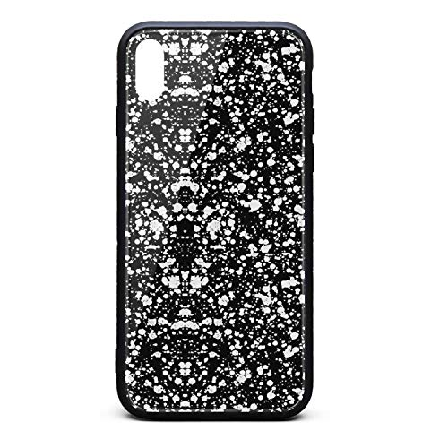 Yiastia_Minyi iPhone Xs Case, iPhone X Case Print Inspiration Art 9H Tempered Glass Back Cover and TPU Rubber Frame Phone Cover Compatible for iPhone X/iPhone Xs