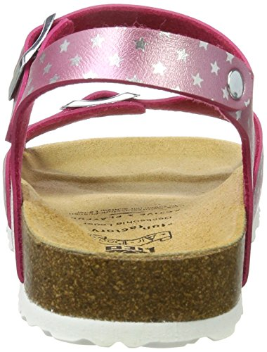 Lico Damen Bioline Sandal Flache Hausschuhe Rosa (PINK/SILBER)