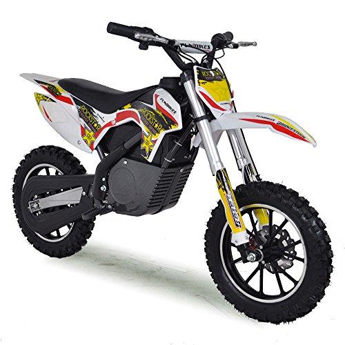 Funbikes MXR 61cm Electric Kids Mini Dirt Bike Battery Ride On (Yellow)