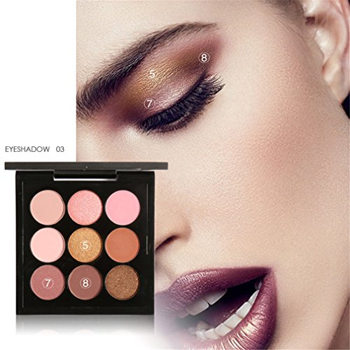9 Colors Earth Tone Shimmer Matte Pigment Glitter Eyeshadow Palette Artist Shadow Palette Makeup Metallic Eye Shadow 3