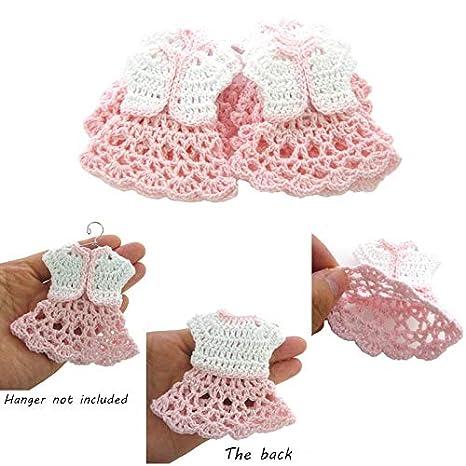 Cushy 12 Mini Abito Alluncinetto Bianco Per Baby Shower