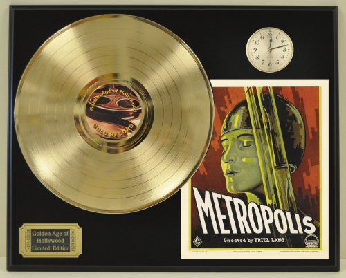 Metropolis Limited Edition Gold LP and Clock Record Display. Only 500 made. Limited quanities. FREE US SHIPPING