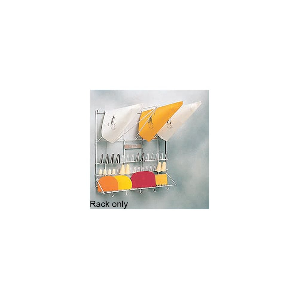 Wall Mount Pastry Bag & Tube Rack, 20'' x 20''