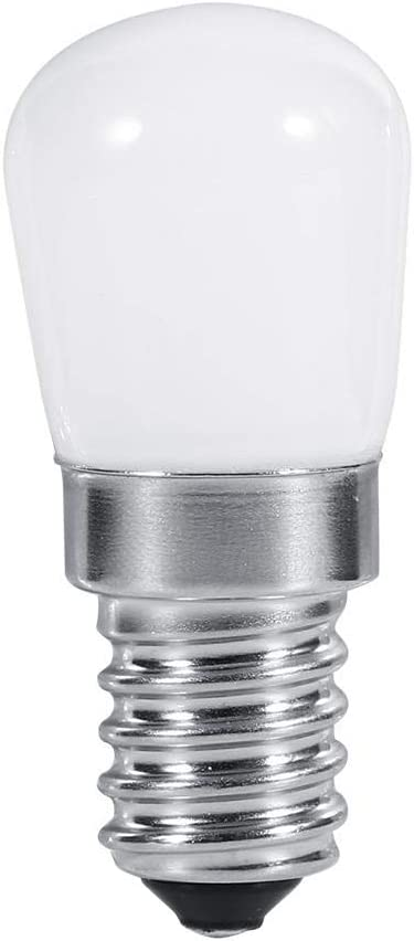 fosa E14 LED Bulb 1.5W Fridge Bulbs Replacement for 25W-30W Halogen Lamp 110V/220V 180lm 360° Beam Angle-Non Dimmable-Low Heat for Refrigerator/Cooker Hood/Sewing Machine(220V Warm White)