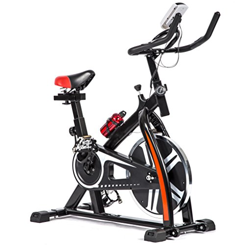 BestMassage Cycling Bike Exercise Bike Pro Indoor Cycling Spin Bike Trainer Bicycle Cardio Fitness Heart Pulse W/LED Display Stationary Indoor Pro Indoor Training Equipment