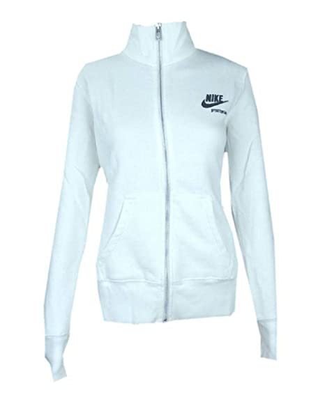 38c51659944ba Womens Nike Sportswear Track Top White Full Zip Sport Fitness Jacket M L  NEW[L]