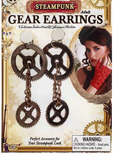 Forum Novelties Steampunk Gear Earrings -