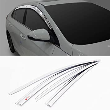 Amazon.com  Automotiveapple D671 Window Chrome Sun Visor Vent for 2016 2018  Hyundai Ioniq  Automotive d9a99f184c8