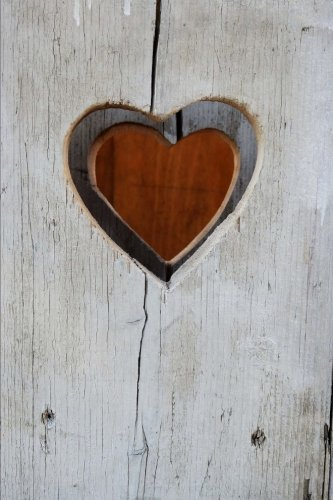 Heart and a Whitewashed Board Love Journal: 150 Page Lined Notebook/Diary (Shabby Chic Journal)