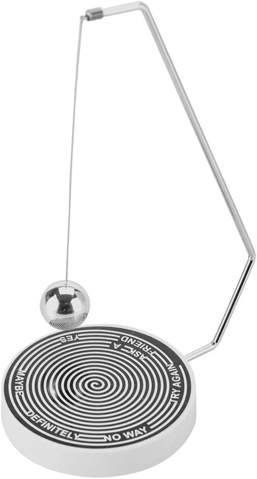 Akozon Decision Maker Ball Magnetic Decision Maker Ball Swing Pendulum Office Desk Decoration Toy Gift(#01)