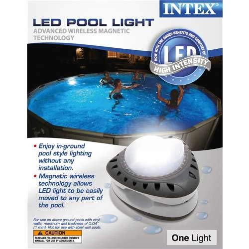 - Intex LED Pool Wall Light, 110-120V