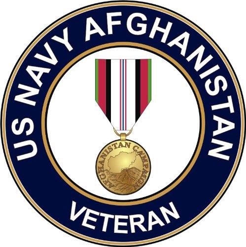 US Navy Afghanistan Veteran Decal Sticker 3.8