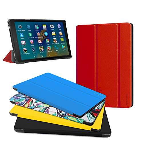 "All New Fire HD 8 Tablet Case, Fire HD 8 Plus Tablet Case (8"" 10 Generation, 2020 Release) - Ultra Light Slim Fit Protective Cover with Auto Wake/Sleep Red, Not Suit for Previous Generation"