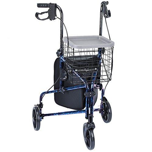 Aluminum Walking Aid Walker With Wheels - 4