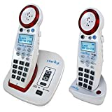 High Volume 50 dB Large Big Button Cordless Telephones For Who May Have Age-Related Ear Problems