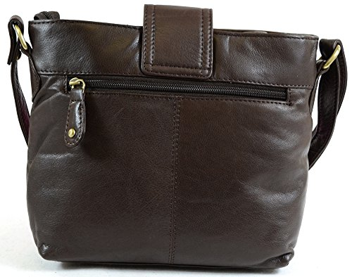 with Premium Ox Cross Blue Strap Ladies Bag Body Red Soft Brown Leather Charcoal Adjustable Tan Lock Clasp and Shoulder Brown Twist Black wIC5Cgaq0