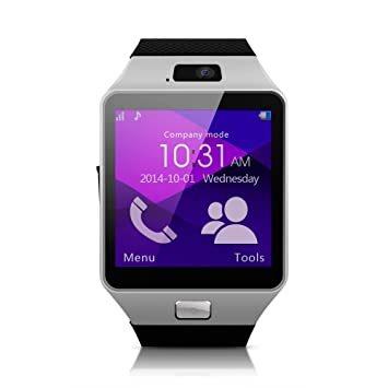 Montre connectée smartwatch tactile HIGHTECHNOLOGY® bluetooth telephone appareil photo 2MP Android appel sms MP3 micro