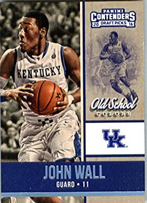 2016-17 Panini Contenders Draft Picks Old School Colors #10 John Wall Kentucky Wildcats Basketball Card in Protective Screwdown Display Case