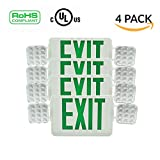 Ainfox 4 Pack LED Exit Sign Emergency Wall Light, Back -up Letter Cover