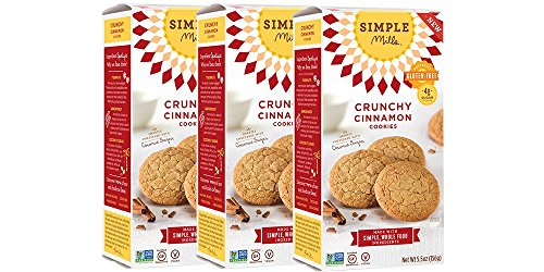 Simple Mills Crunchy Cookies, Cinnamon, 5.5 oz, 3 count