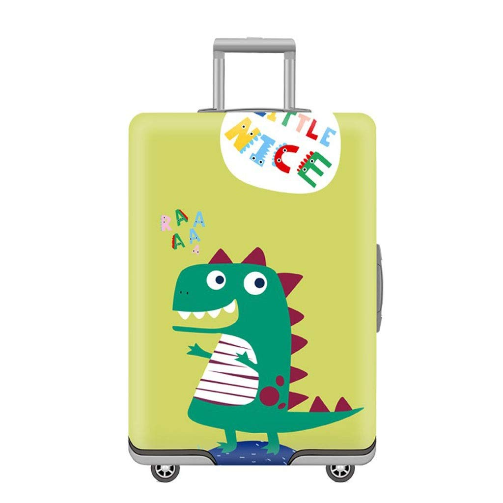 Size : S Trolley case Suitcase Cover It Has No Bad Smell Dustproof Wear-Resistant Non-Slip Four Seasons Available Spandex Suitcase Protector for 24-42 inch Elastic Stretch-Dinosaur