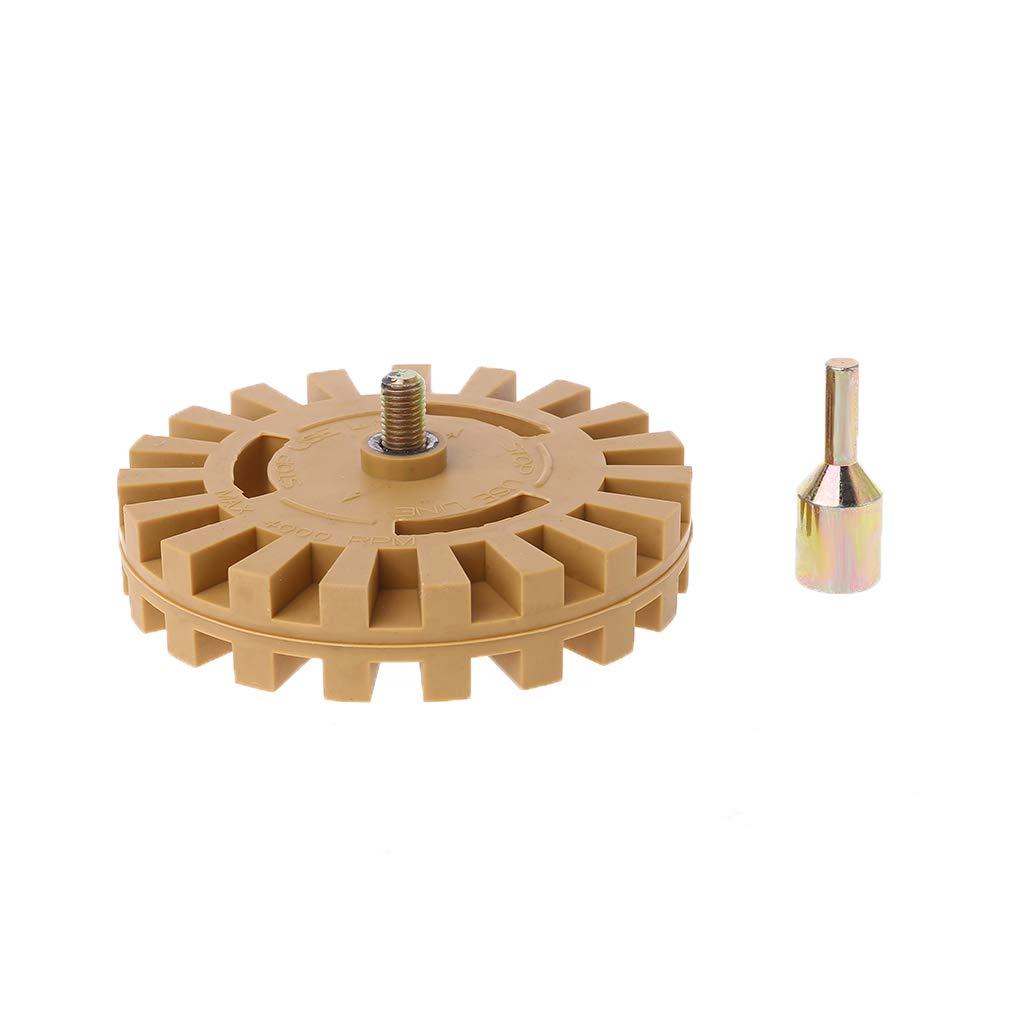 NAIXUE Decalcomanie per auto di rimozione di appliqu gessato per la pulizia delladesivo della ruota della gomma da 4 pollici con supporto conico