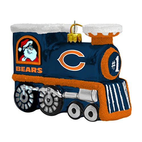 NFL Chicago Bears Blown Glass Train