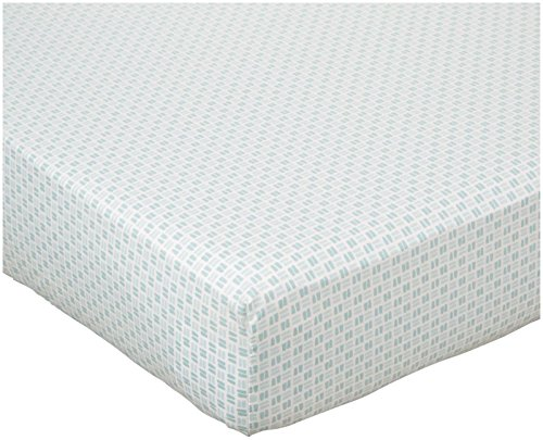 (DwellStudio Basket Weave Fitted Crib Sheet - Caravan)