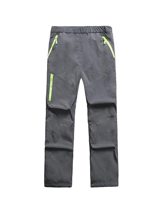 Echinodon Kinder Gef/ütterte Hose Softshellhose Winddicht Wasserabweisend Atmungsaktiv Warm Jungen M/ädchen Regenhose Skihose Wanderhose