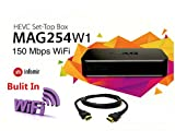 MAG 254 W1 Multimedia Player With Built-In 150Mbps Wi-Fi and HDMI Cable