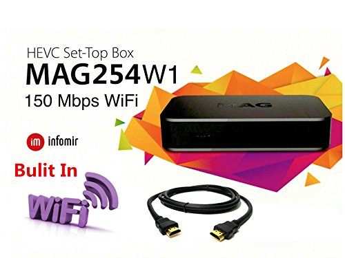 Price comparison product image MAG 254 W1 Multimedia Player With Built-In 150Mbps Wi-Fi and HDMI Cable
