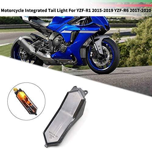 Moligh doll Fanale Posteriore Posteriore Integrato per Indicatore di Direzione Lampeggiante per Moto YZF-R1 2015-2019 YZF-R6 2017-2020
